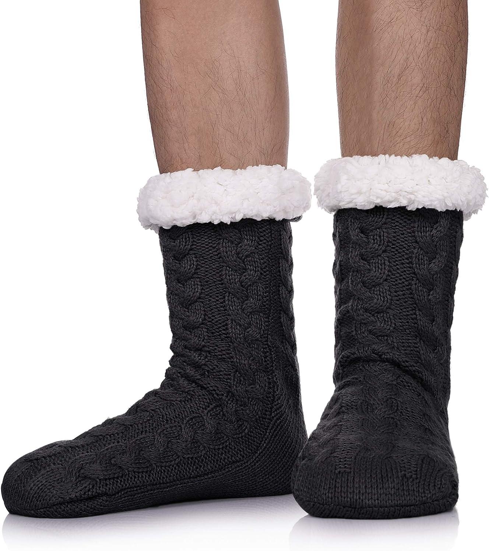 Details about  /Adult Thick Socks Slipper Warm Ultra Plush Avoid Slip Long Floor Indoor Winter