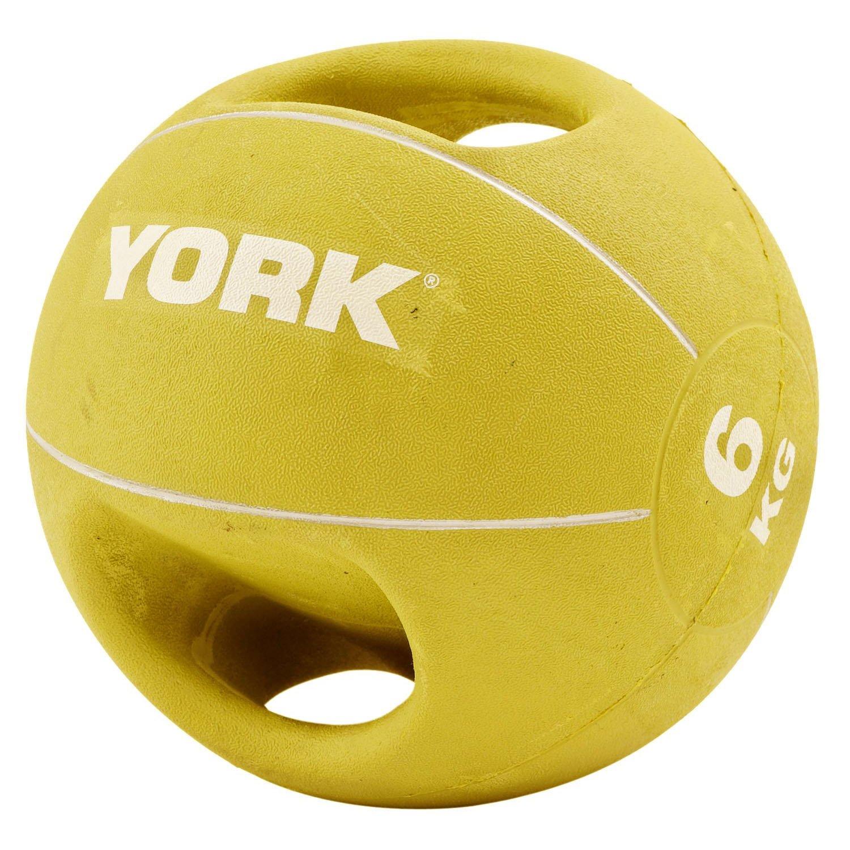 York Fitness - Balón medicinal, doble agarre, 6 kg: Amazon.es ...