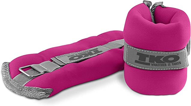 Durable Fitness Neoprene Wrist Ankle Weight Workout 1LB Adustable Strap Pair