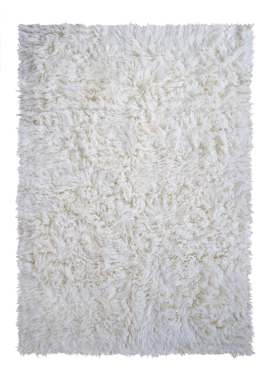 Flokati Teppich Qualität 1500 natur Kult Shaggy Teppich Hochflor Langflor 100% Schurwolle, Größe  140x200 cm