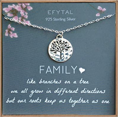 925 Sterling Silver Necklace Enjoyable Boy /& Life Tree Pendant Quiet Girl Chain