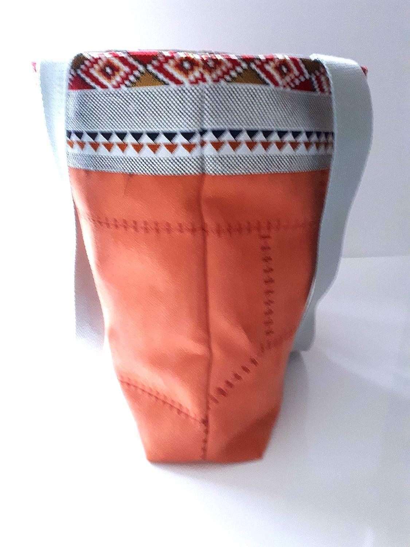 a9a750ccad Sac à main moderne ethnique porté épaule suédine brique citrouille, sac  cabas femme porté main tissu gris aztèque, cadeau Noël unique pour elle:  Amazon.fr: ...