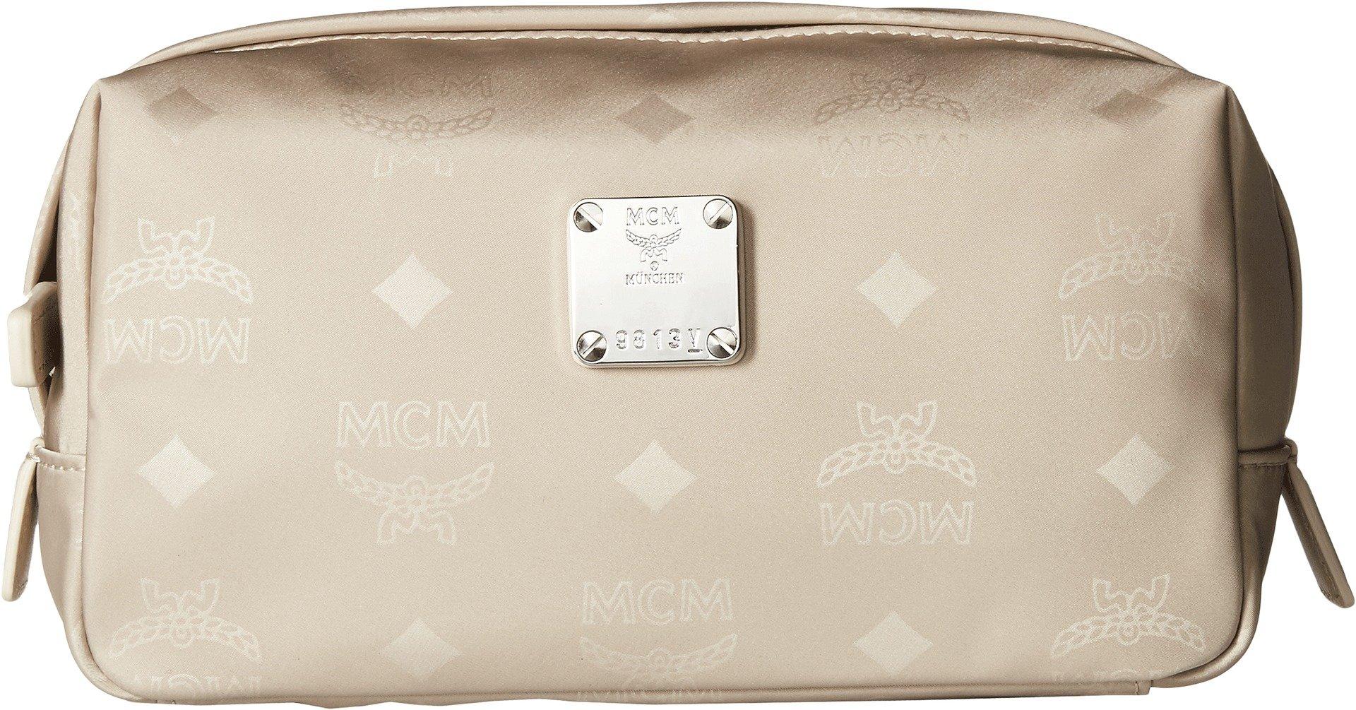 MCM Women's Dieter Monogrammed Nylon New Medium Pouch Born Beige One Size