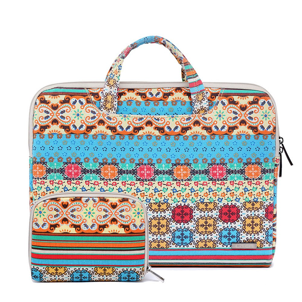 Comfysail 11.6-15.6 Inch Elegant Pattern Portable Laptop Sleeve with Handle Notebook Carrying Bag Tablet Pouch Ultrabook Case Cover for Apple/Asus/Acer/Dell/HP/Lenovo lovely