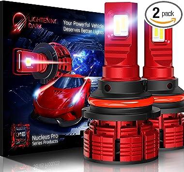 LIGHTENING DARK 10000 Lumens 9007 LED Headlight BulbsCREE Chips Hi//Low Conver...