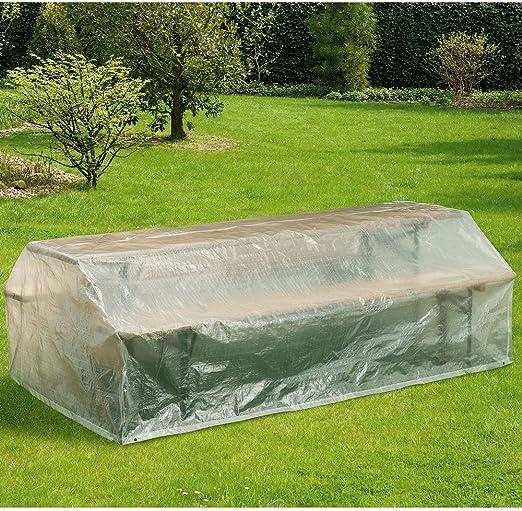 Hummelladen Funda Protectora para Muebles de jardín, 220 x 120 cm, Cubierta Transparente: Amazon.es: Jardín