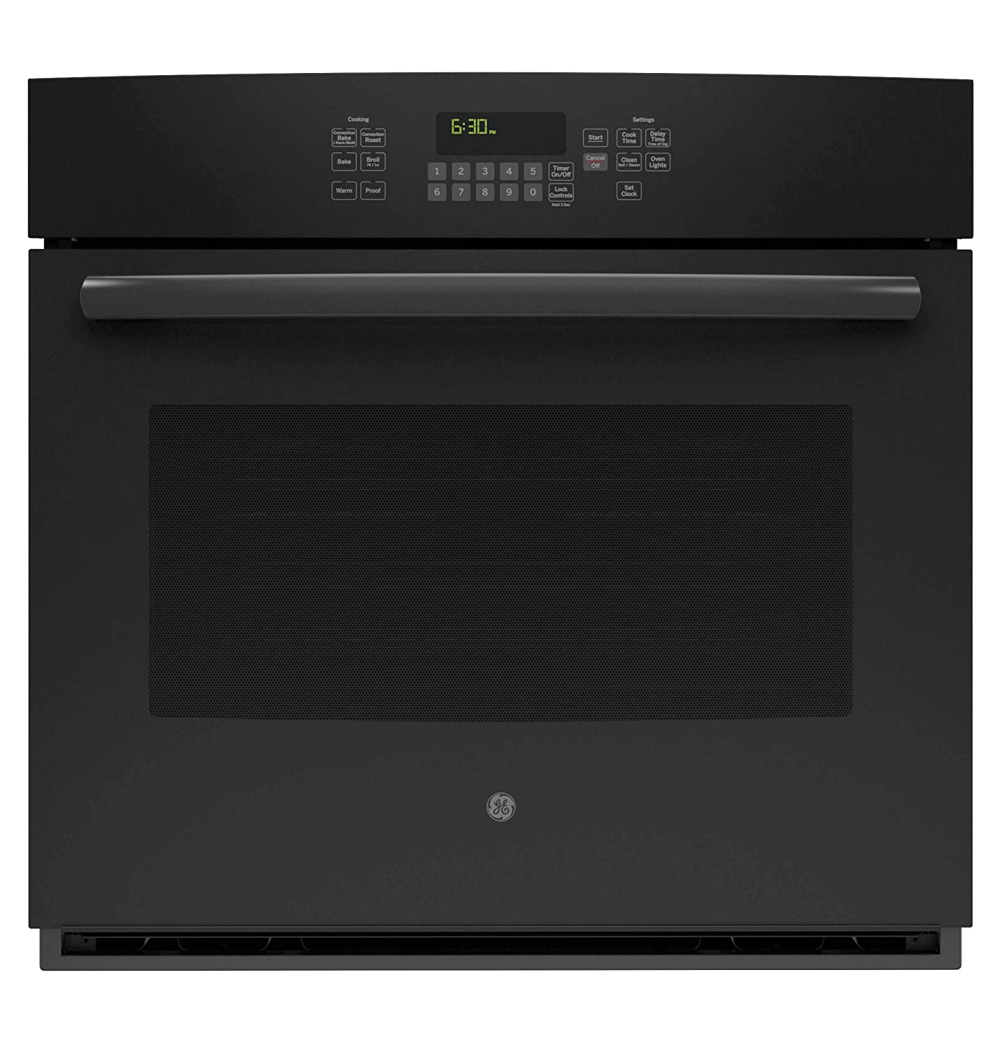 """GE JT5000DFBB 30"""" Black Electric Single Wall Oven - Convection (Certified Refurbished)"""