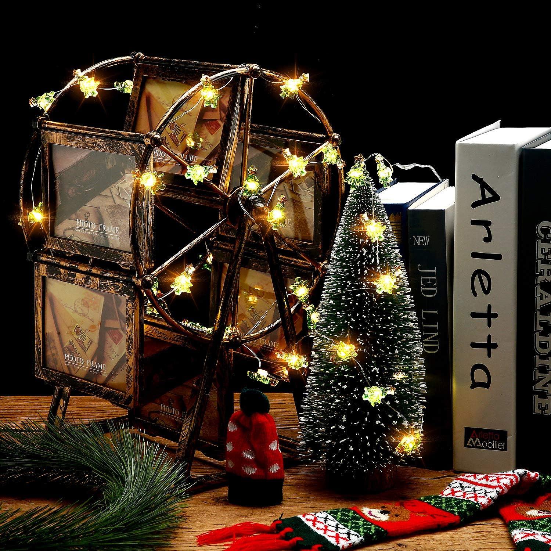 DP Arbre de Noël Chambre Décoration 6 mètres Guirlandes-Choisir Couleur 3x 2 m