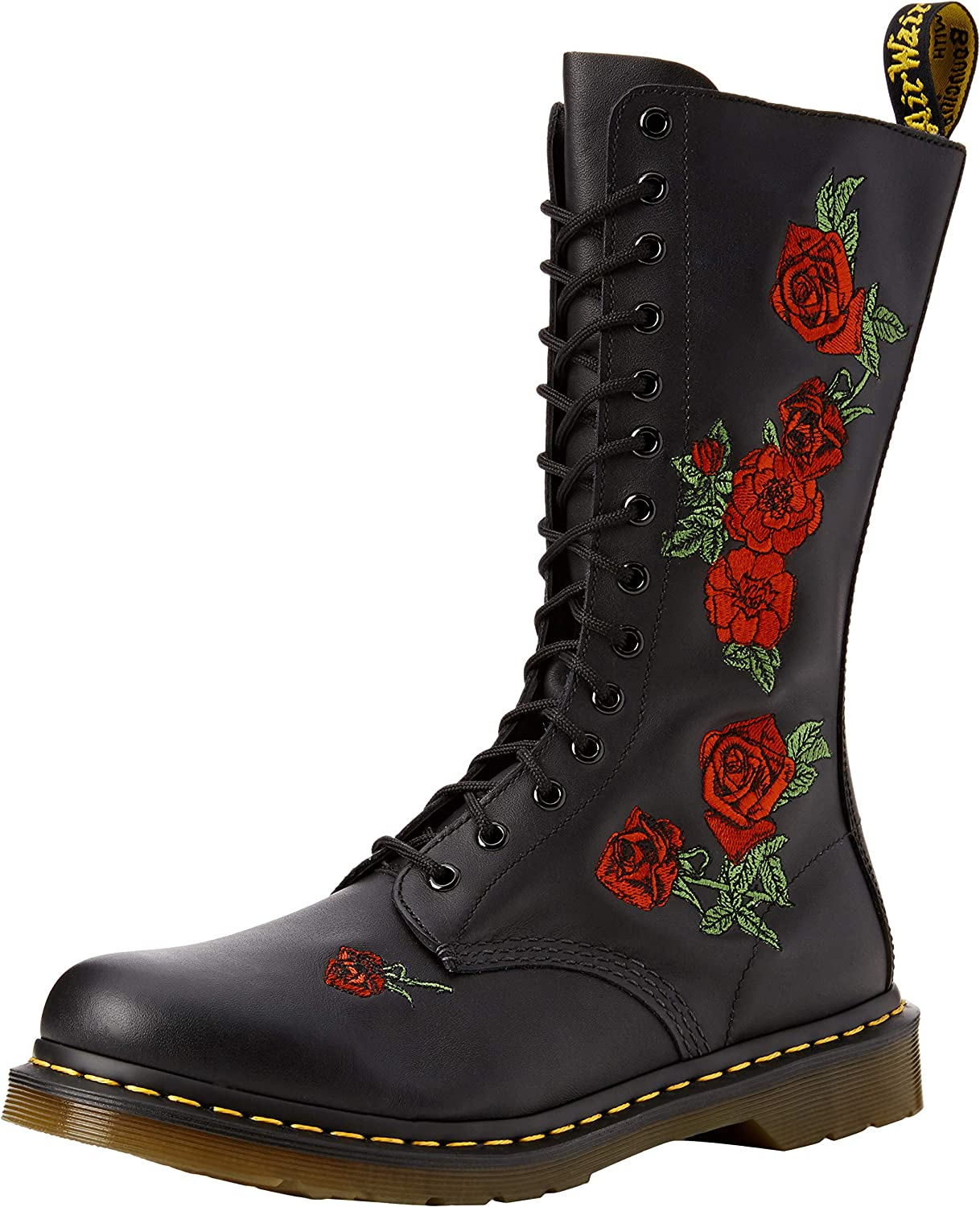 Dr. Martens 1460 Patent Red, Bottes Mixte Adulte Rose