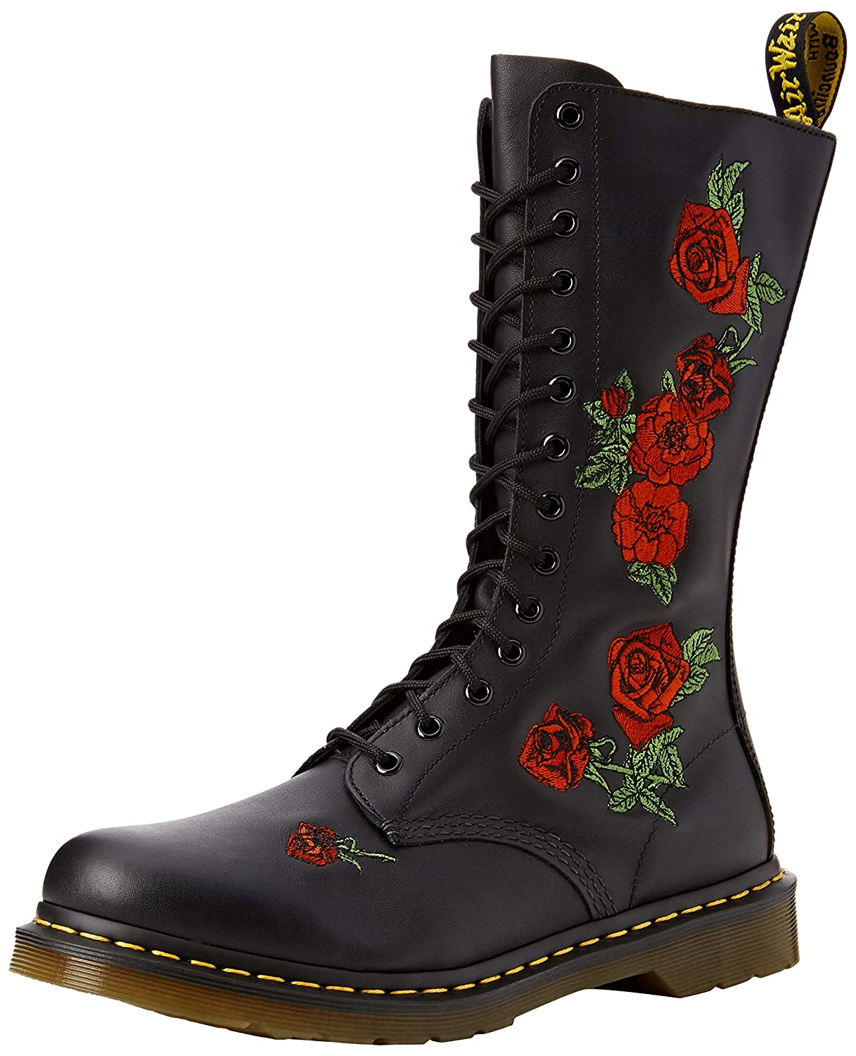 doc martens with red roses