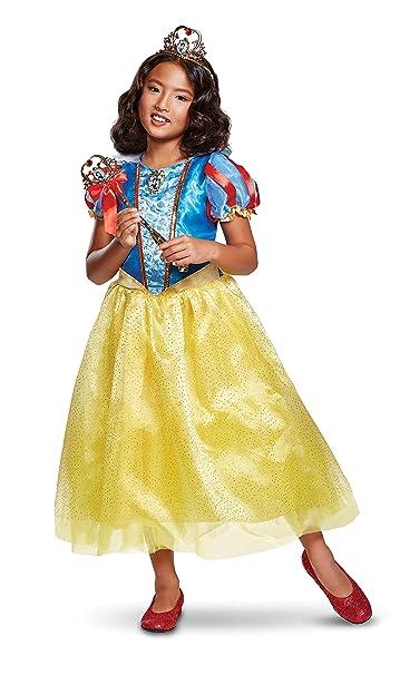 Amazon.com: Niñas vestido de Blancanieves Deluxe disfraz de ...