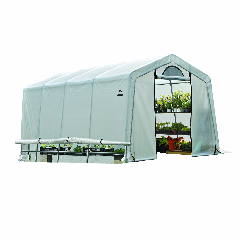 amazon com greenhouse in a box easy flow greenhouse peak style