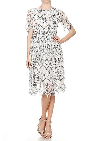 Anna-Kaci Juniors Vintage Floral Lace A-Line Tea Party Homecoming Dress