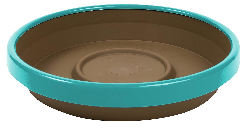 Bloem Terra Two-Tone Saucer 12' Chocolate w/Calypso STT1245-27