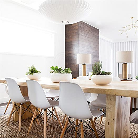 eames style chairs uk. set of 6 charles \u0026 ray eames style replica dsw eiffel dining lounge chair (white chairs uk