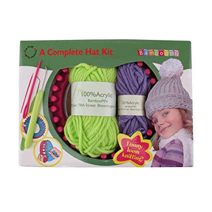 Amazon Com Loom Knitting Pattern Kit For Beginners Hat Set