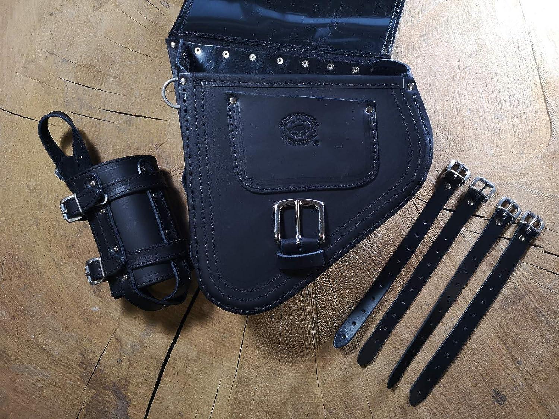 Fortuna Sac /à Dos pivotant pour Harley Davidson Softail Schwinge HD Noir