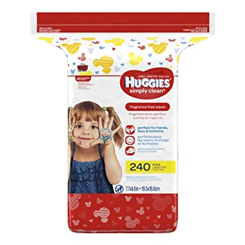 Huggies Simply Clean Baby Wipes, Refill, 240 ct