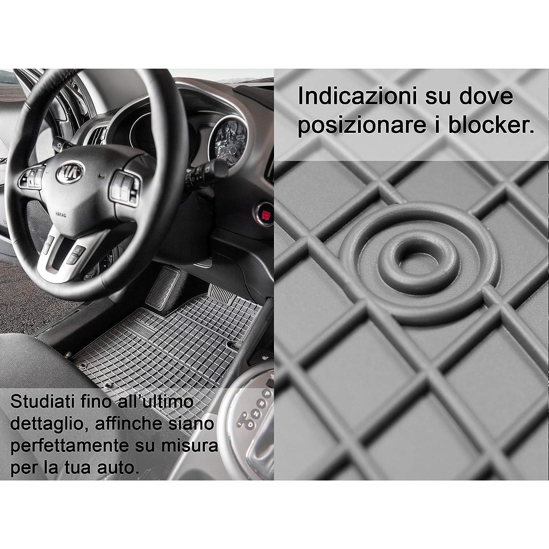 Frogum Alfombrillas DE Goma A Medida para Mercedes ACTROS MP4 SIN Asiento PNEUMATICO Desde 2012
