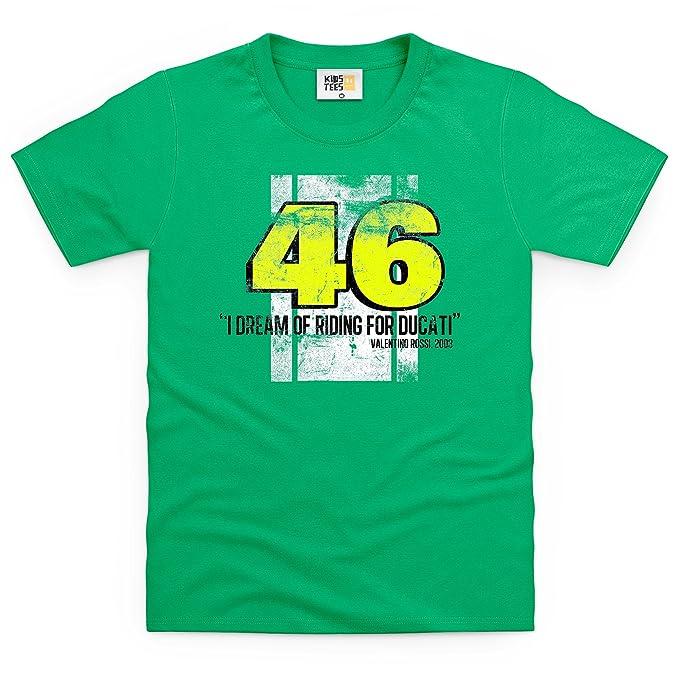 Valentino Rossi Camiseta infantil, Para nios, Verde celta, M
