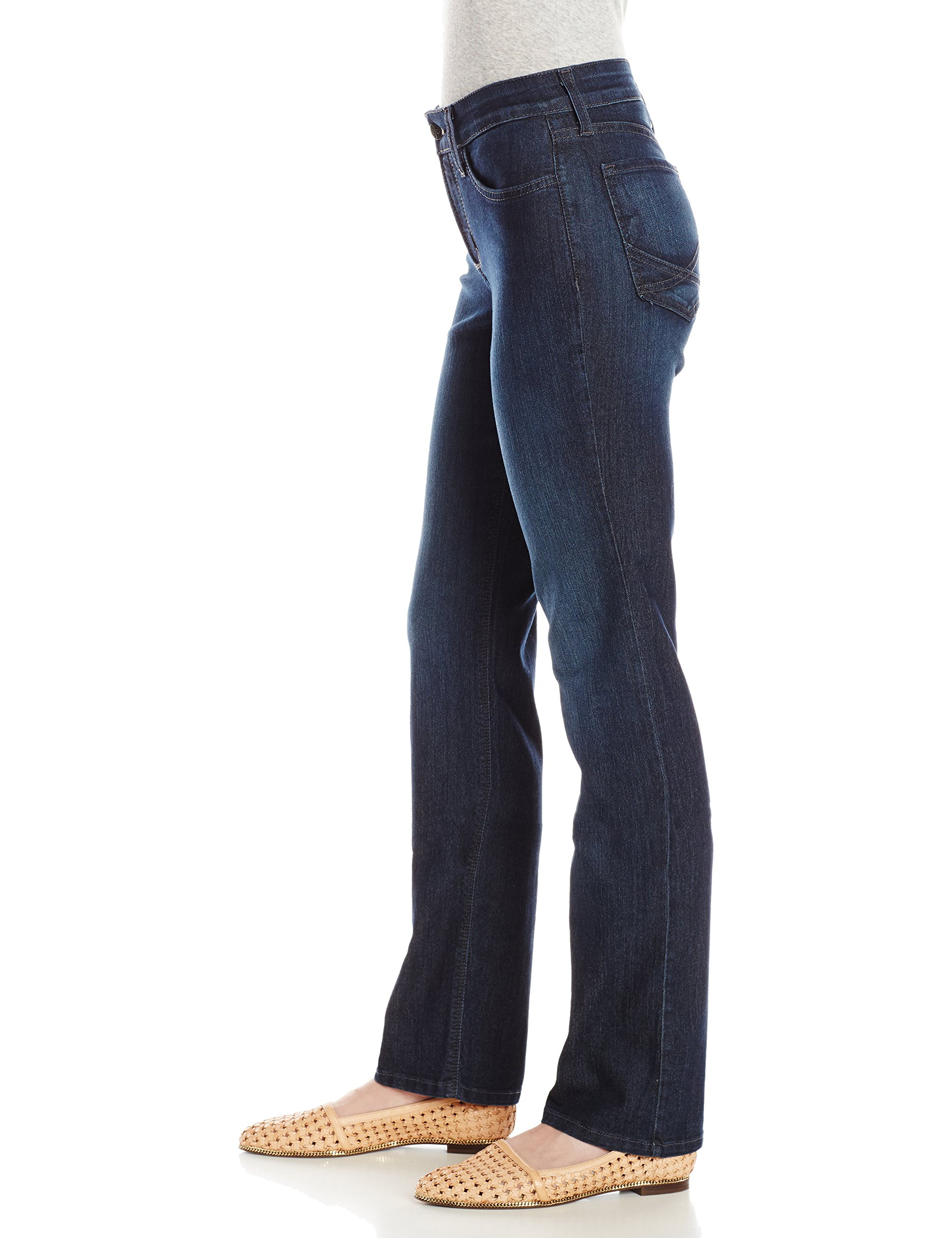 NYDJ Women's Petite Marilyn Straight Jeans In Premium Lightweight Denim, Burbank Wash, 16P by NYDJ (Image #3)