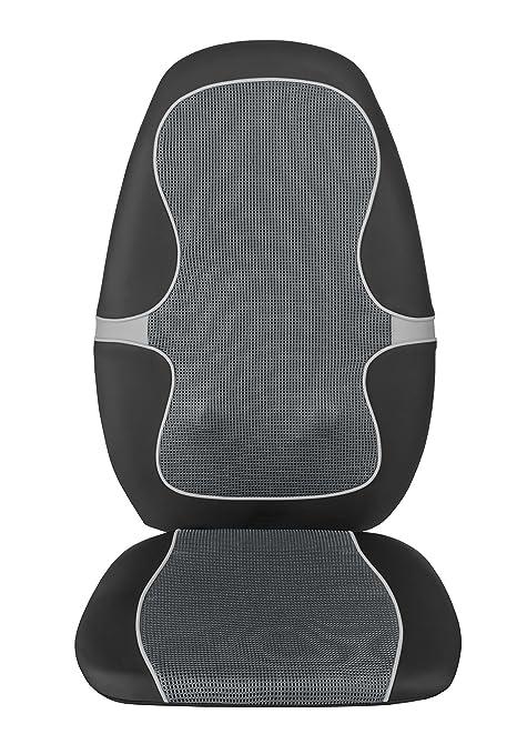 Medisana MC 815 Shiatsu cojín de masaje , cojín de asiento de masaje con masaje por vibración, 4 cabezales de masaje giratorios, 3 niveles de ...
