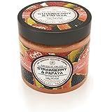 Tropical Fruits - Luxury Sugar Body Scrub - Strawberry & Papaya, SLES & Paraben Free - 550 g / 19.4 oz