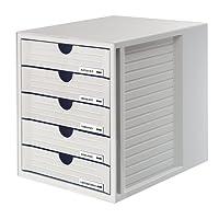 HAN 1450-11 Module de rangement 5 tiroirs fermés pour C4, PS 275 x 320 x 330 mm (Gris clair) (Import Allemagne)