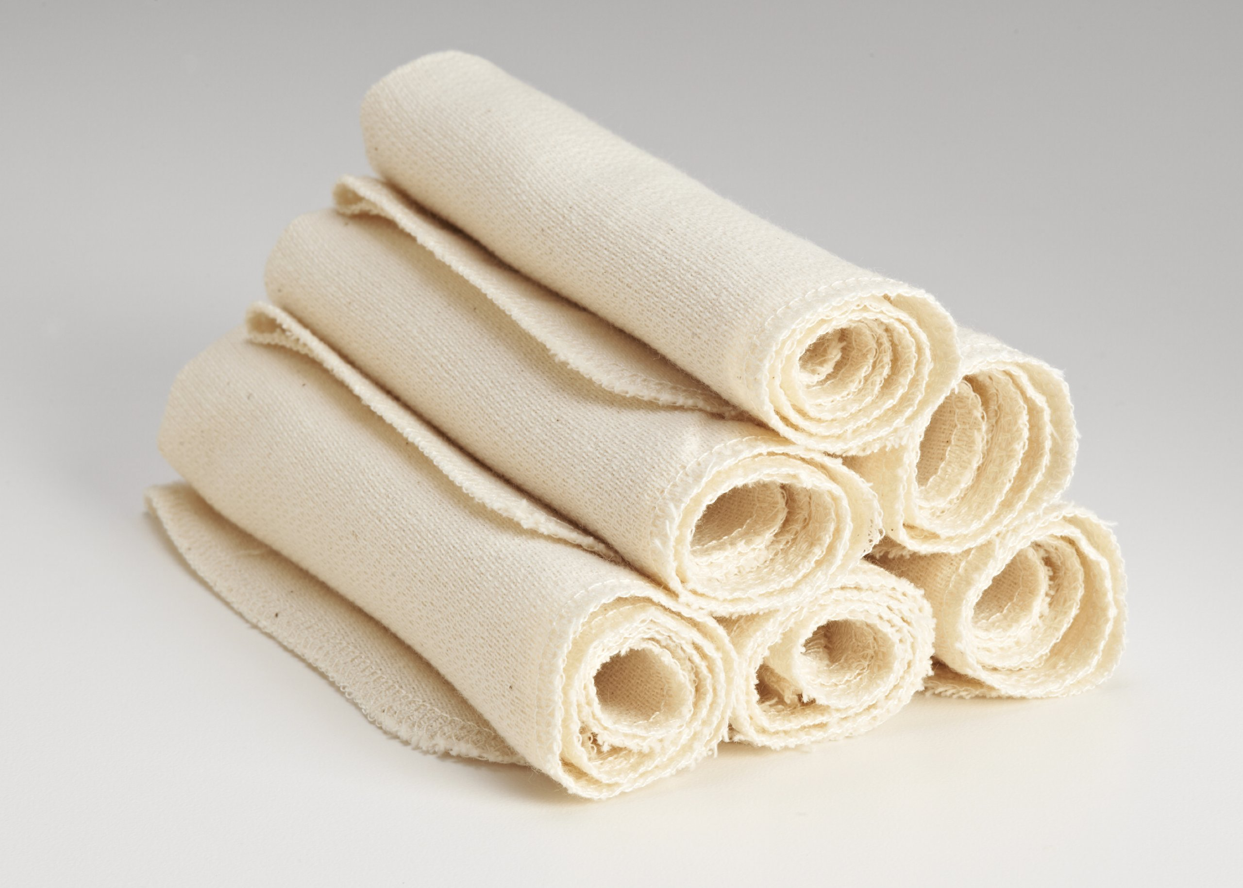 Organic Cloth Paper Towels Cleaning Cloth - Set of 6 11x11 in Natural