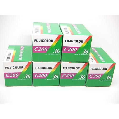 Fujicolor C200 35mm 36 exposure Colour Print Camera Film 6 Pack