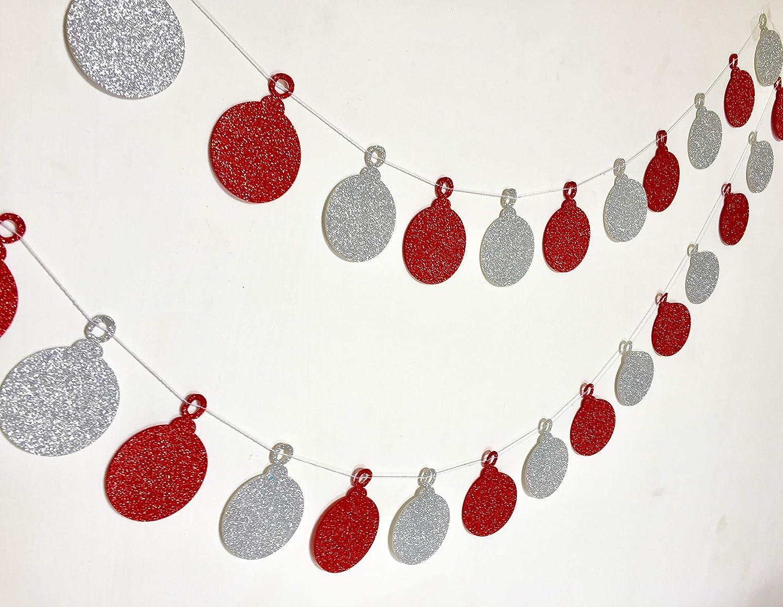 Gifttoys christmas ball garland - merry christmas banner, merry christmas garland, merry christmas stamp, christmas decorations, christmas decorations garland