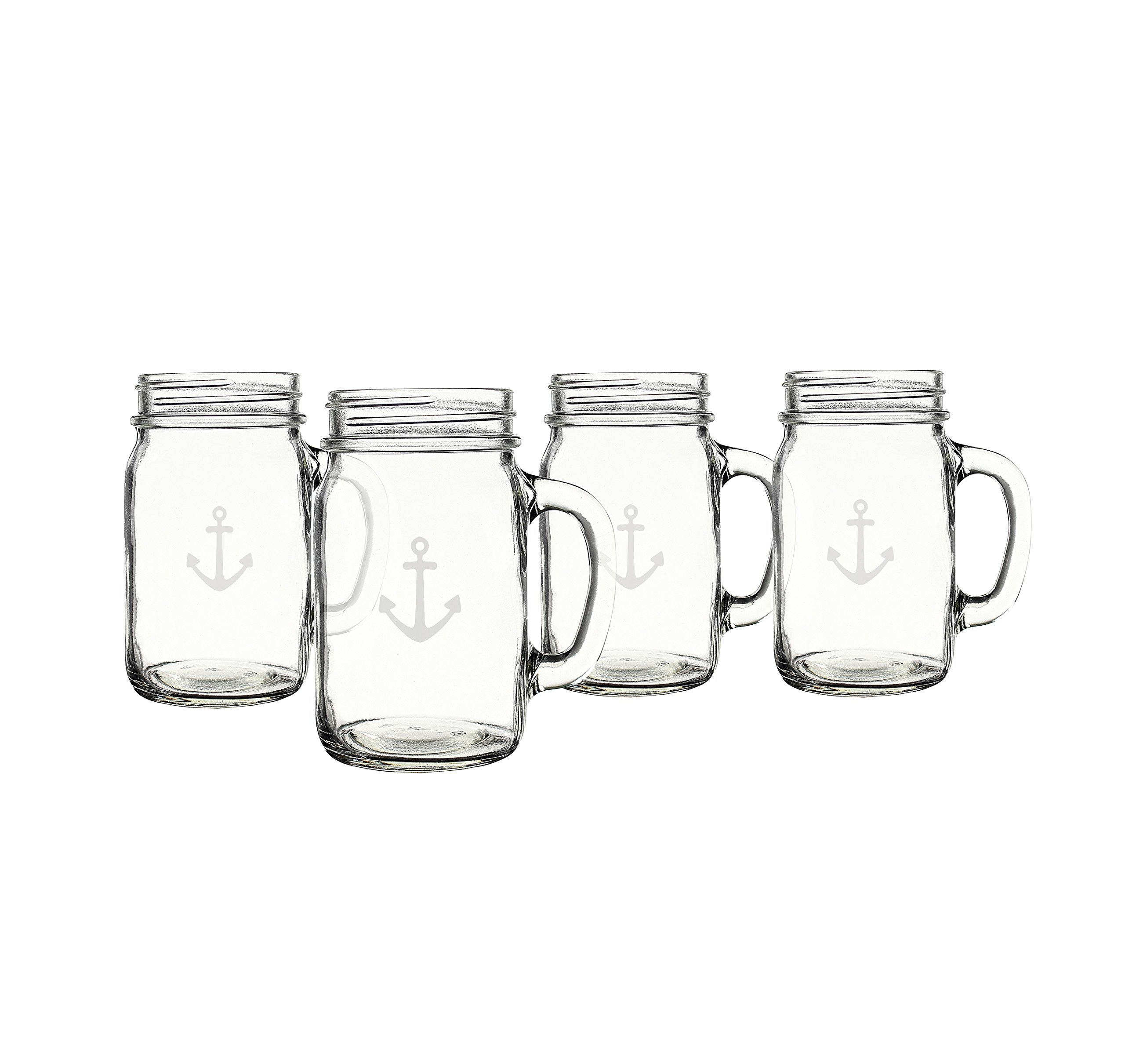 Cathy's Concepts CCA1190 Anchor Old Fashioned Drinking Jars Set Of 4 by Cathy's Concepts (Image #2)
