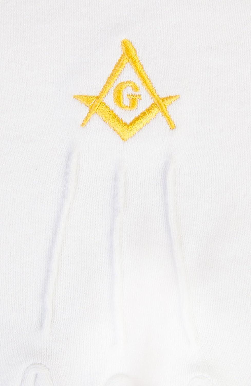 G Franc-ma/çon coton Gants en or SC