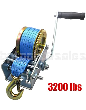 Manual and Hand Held Winches: Amazon com