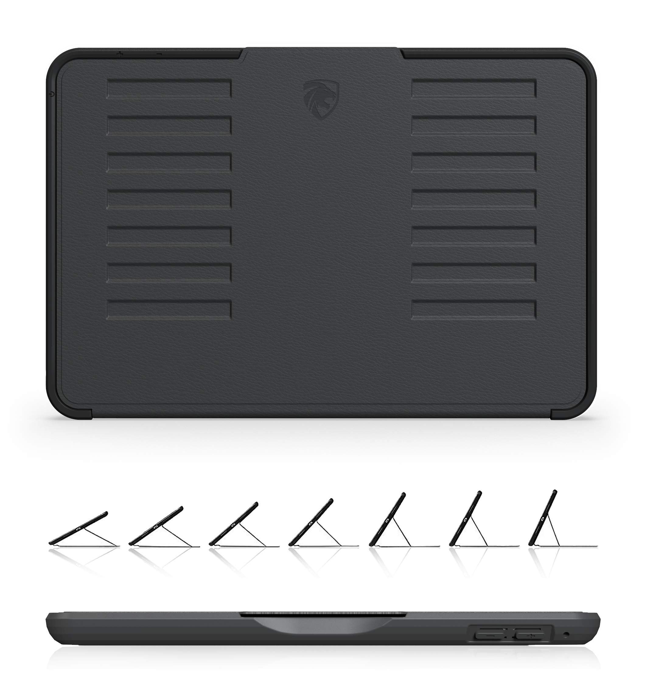 ZUGU CASE - iPad Mini 5 & 4 Muse Case - 5 Ft Drop Protection, Secure 7 Angle Magnetic Stand (Black)