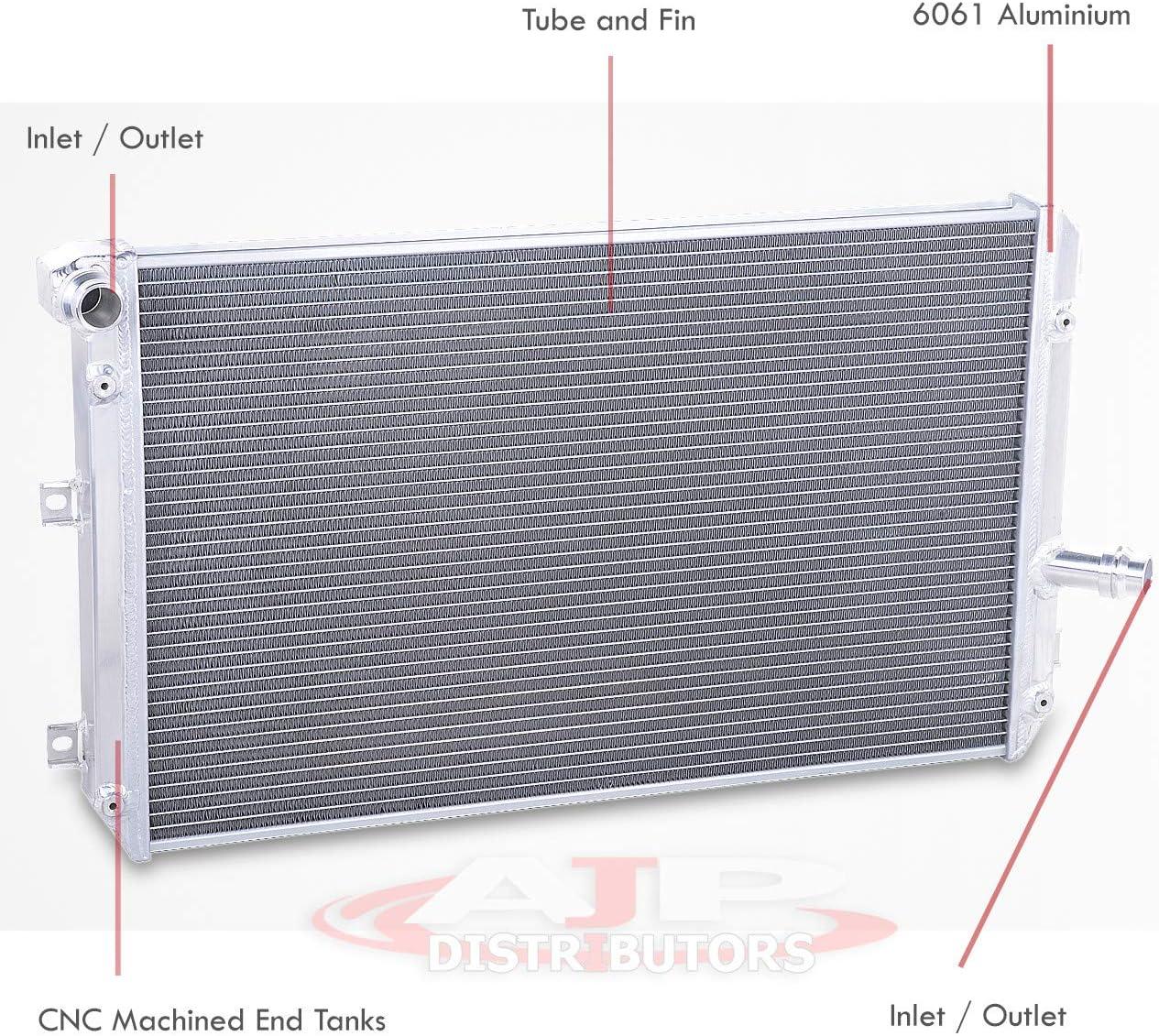 FOR 06-14 VW JETTA AUDI TT A3 2.0T 2.0 TDI 2-ROW FULL ALUMINUM COOLING RADIATOR