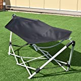 Giantex Portable Hammock with Stand-Folds, Lounge Camping Bed Folding with Carry Bag for Camping Outdoor Patio Yard…