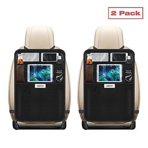 Aoafun Mats patada con Multi-bolsillo organizador, paquete de 2, asiento trasero Cubiertas para coches, SUV, furgonetas y camiones Asientos, accesorio auto y protector para los niños