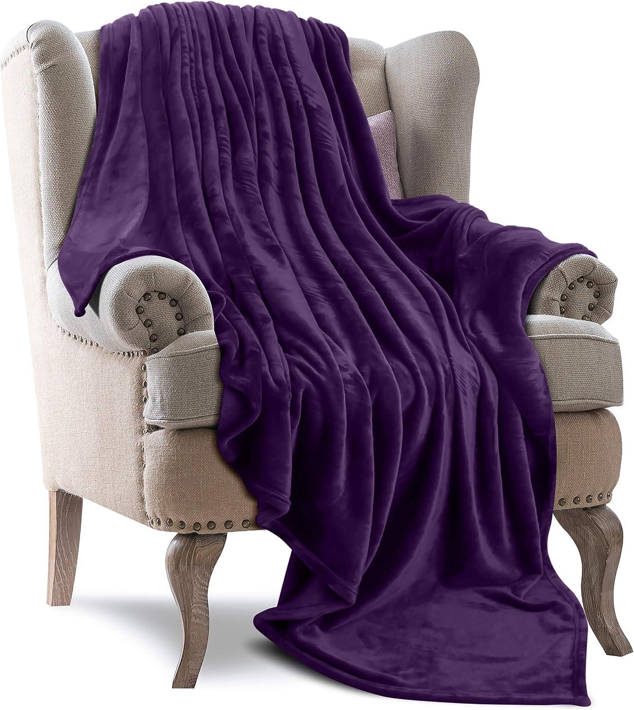 Utopia Bedding Purple 300GSM Fleece Blanket $11.04 Coupon