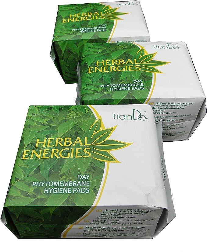 Paquet d/Épargne Nuit 3x8 Un. Compresses Energie des Herbes Pour Femmes TianDe 61903