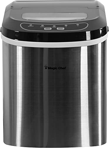 Magic-Chef-27-Lb.-Portable-Countertop-Ice-Maker-in-Silver