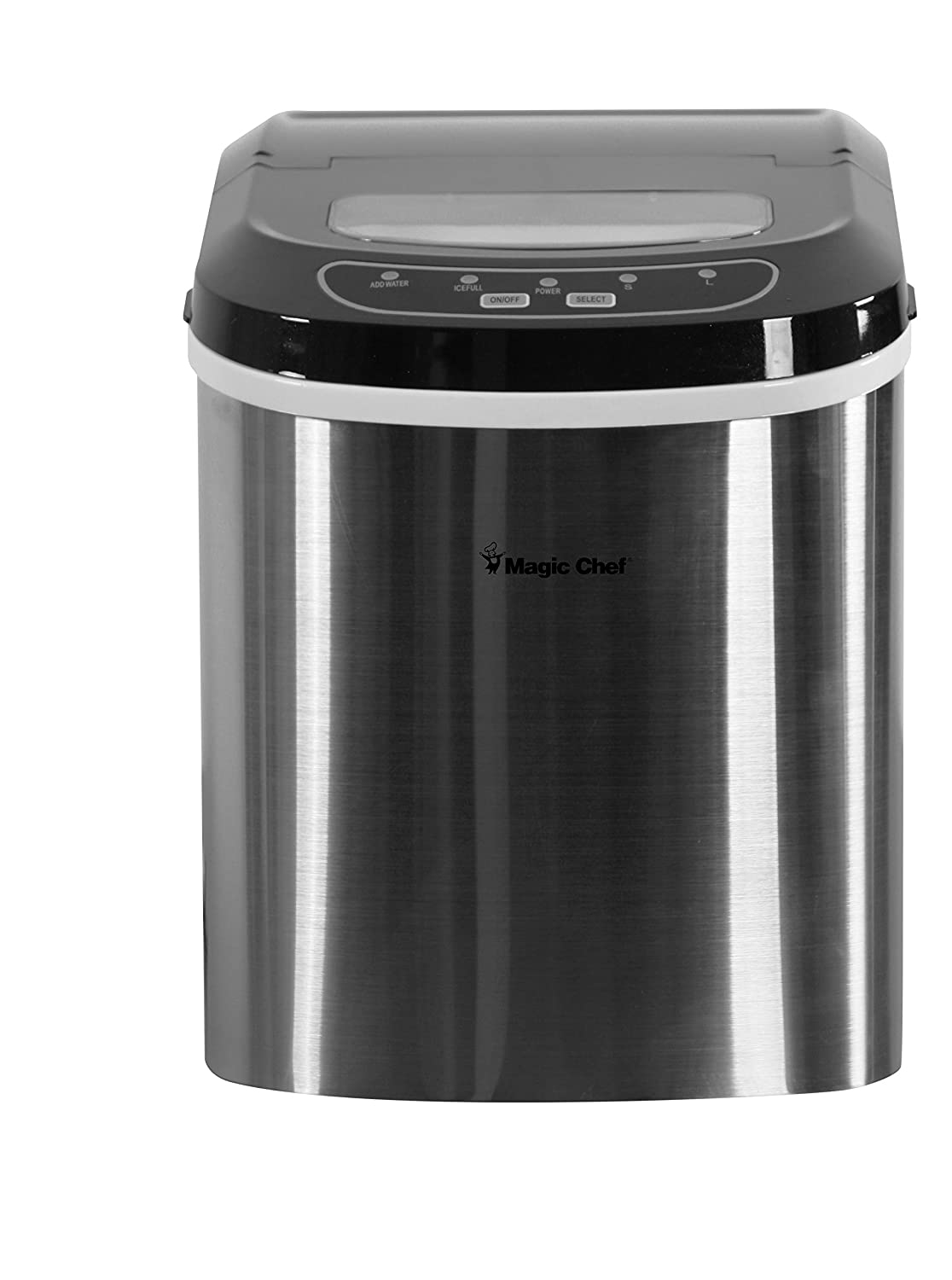 Magic Chef 27-Lb. Portable Countertop Ice Maker in Silver