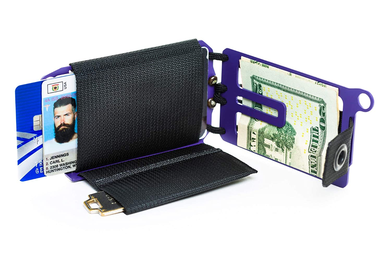 107cc8ddefda Trayvax Axis Wallet (Purple) at Amazon Men s Clothing store