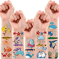 200 PCS Ocean Theme Temporary Tattoos for Kids, Beach Pool Under The Sea Decorations Birthday Party Supplies Favors…