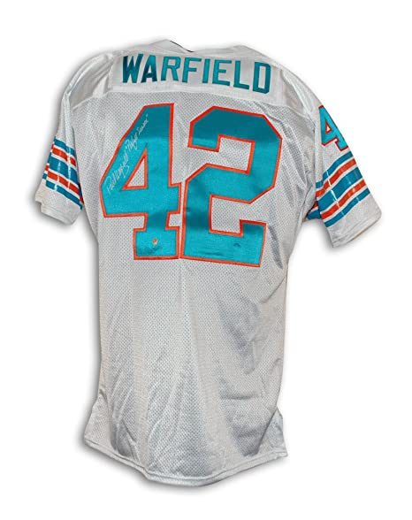c67e1b16a Paul Warfield Miami Dolphins Autographed Throwback Jersey Inscribed   quot Perfect Season quot  - APE COA