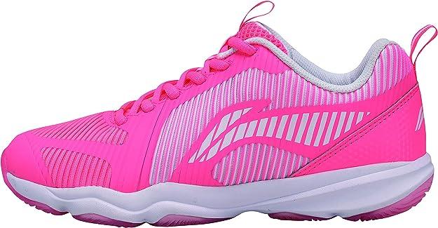 Li Ning Ranger TD AYTN062-4 - Zapatillas de bádminton para Mujer, Color Rosa: Amazon.es: Zapatos y complementos