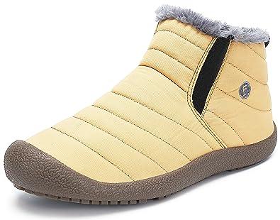scarpe casual materiali di alta qualità comprare nuovo Stivaletti Donna Uomo Stivali Invernali con Fodera in Pelo Scarpe Inverno,  Pelliccia Caldo, Comodi Leggeri e Antiscivolo