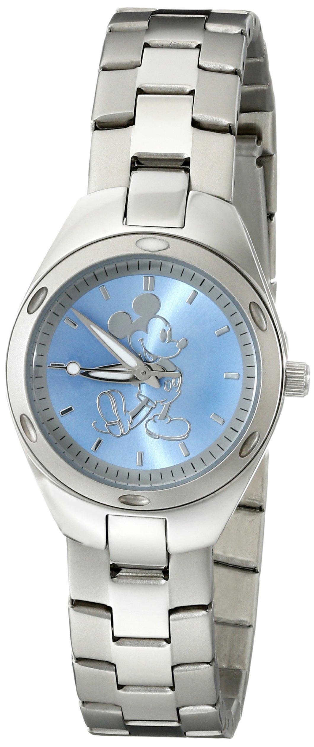 Disney Women's W001906 Mickey Mouse Analog Display Quartz Silver Watch