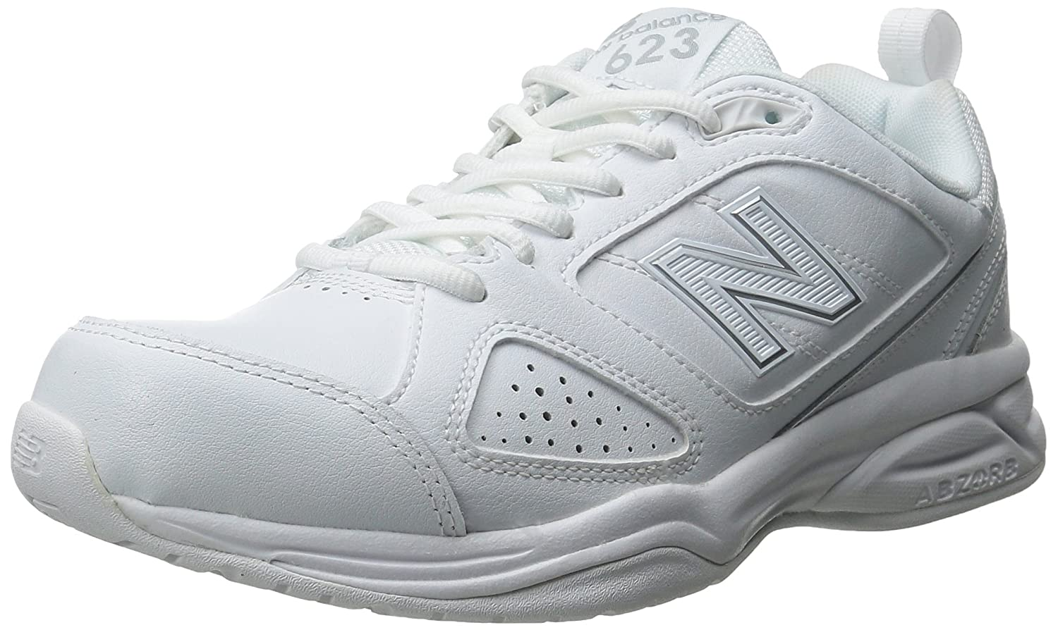 New Balance Women's WX623v3 Casual Comfort Training Shoe, WhiteSilver, 8 D US