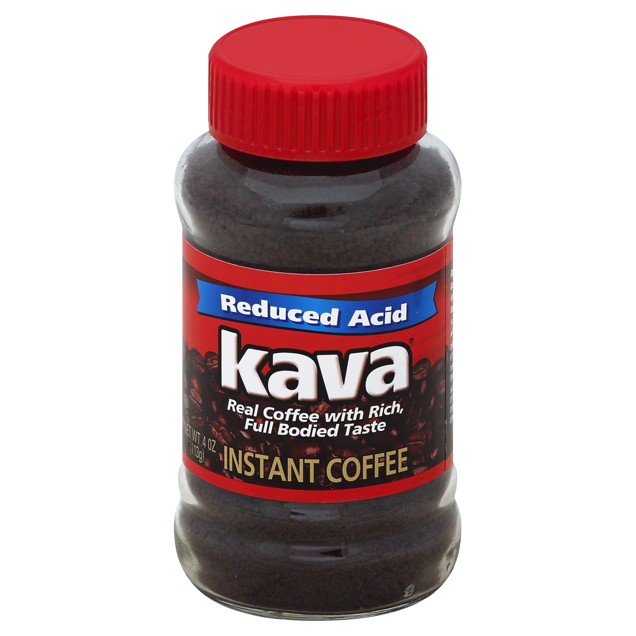 Kava Reduced Acid Instant Coffee, 4 Ounce Jars (Pack of 12) by Kava